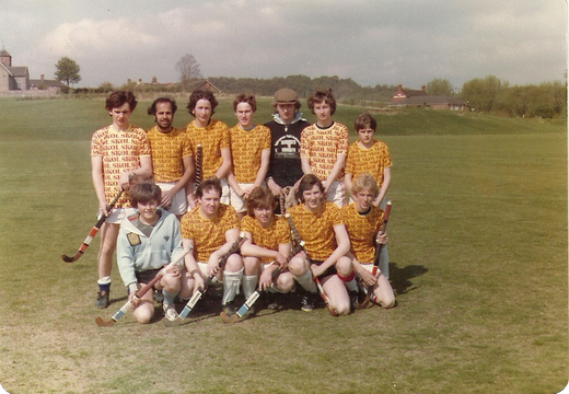 1980's Telford & Shifnal Hockey Club International Tournament   The team is Telfords Skolars Back row Richard Jones, Gurdial Singh, Bruce Paterson, ?, Alan Gandy, Euan Paterson, young Thomas Front Row Dave Crofts, Kevin Williams, Nick Palmer, John Shelvey