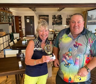 Marion West wins Nearest the Pin for the Ladies