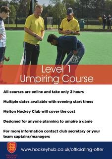 Level 1 Umpire Course