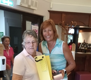 Gill Miller in 2nd place for the Ladies on Thelma's Flag Day