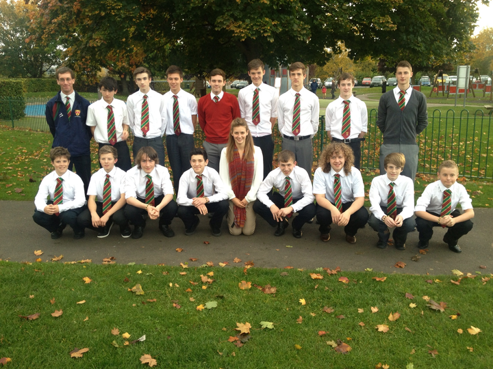 Cannock U16s Squad and Coaching Team October 2012