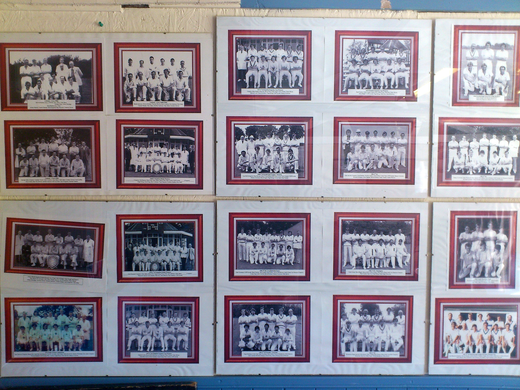 Pre-season friendly: Castor CC clubhouse wall of fame.