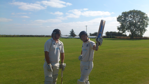 French and Mitchell piling on the runs for Saturday 2nds at East Haddon, taken by square leg umpire.