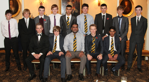 Members of the 3rd XI that won Hunts Division 3.