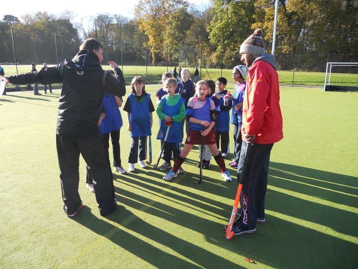 Hampton Under 10's get a little more coaching from JD