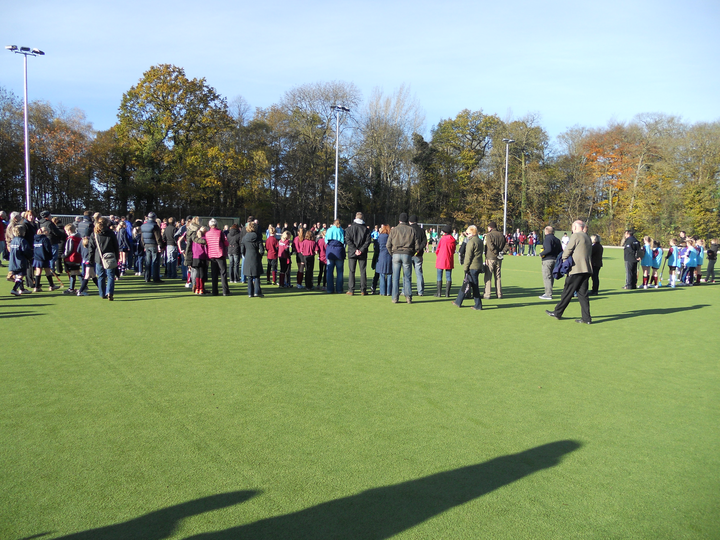 Everyone gathered for a 2 minute silence