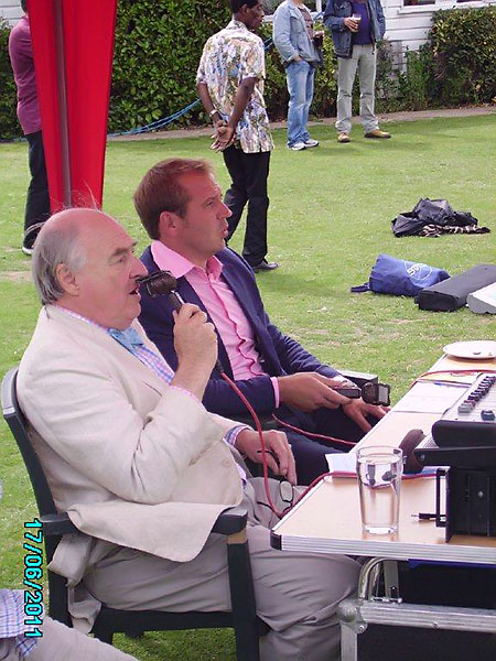 Blowers and Ben on the mic! Blowers less than impressed.