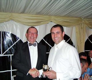 President's Award - to Paul for his work as Chairman of Marketing & Social for the past four, during which time he's raised (or been involved in the raising of) not far short of £50,000 - and this year in particular has been extremely hard work planning f