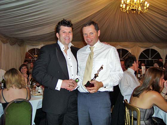 4th XI Player of the Year: John Morgan (pictured with Captain Neil Webb).  Morgy has been a virtual ever-present stalwart in the side quietly contributing when needed - whether by batting, bowling or even wicket-keeping.