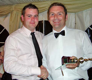 3rd XI Player of the Year: Steve Lennon (pictured with Chairman Ken Lingwood).  Steve only returned to cricket this season have missed a few years for various reasons (not least of all whilst being a guest of Her Majesty) and has scored loads of runs in t