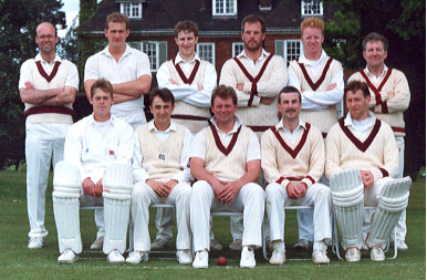 Saturday 1st XI: (Back Row) Richard Howlett, Graeme Walker, Paul Lattimore, Dave Cantor, Chad Porter, Jeff Salt; (Front Row) Nick Knight, Kevin Crossley, Phil Howlett, Martin Pether, Ian Coleman
