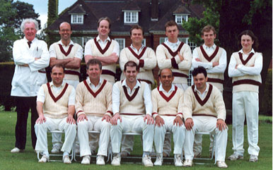 Saturday 2nd XI: (Back Row) Bernard Potter, Richard Howlett, Mark Huxley, Barry Davies, Danny Hazle, Ben Cocklin, Chris Keneally; (Front Row) John Hayto, Jeff Salt, Dave Edward, Ash Patel, Micky Davis