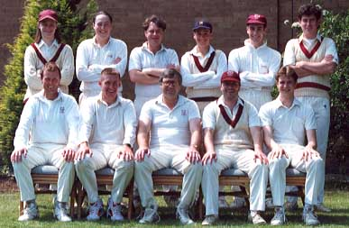 Saturday 3rd XI: (Back Row) Dean Hanson, Michael Davey, Mark Davis, Michael Maynard, Paul Webb, Robin Coote; (Front Row) Mark Severn, Calvin Shaw, Ken Hobbs, Chris Norris, Phil Morley