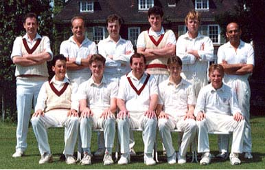 Sunday 2nd XI: (Back Row)   Jon Coote, Roger Blyth, Bob Golding, Rob Coote, Mark Severn, Ash Patel; (Front Row) Micky Maynard, Phil Morley, Malcolm Webb, Steve Miller, Gavin Todd