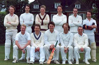 Victorians XI:  (Back Row) Chris Taylor, Paul Vanderhoven, Steve Pinkney, Chris Jolly, Kevin Wood, Dave Terrell; (Front  Row) Des Alford, 'Sir' Bob O'Brien, Mick Pinkney, Tim Potter, Rob Benton