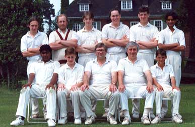 Saturday 4th XI: (Back Row) Paul Trew, Chris Norris, Steve Miller, Michael Davey, Dave Murphy, Roger Mahadeo; (Front Row) Shane Surujbally, Richard Smith, Ken Hobbs, Mick Roach, Ian Belchamber