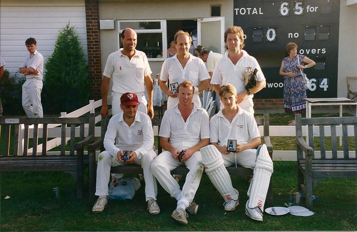 Winners! Back Row: Richard Howlett, Roger Blythe, Dave Terrell, Front Row: Micky Davis, Steve Hawkes, Steve Miller