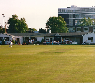The 'New' Pavilion, OCG (so new, they hadn't quite completed the paint job! still painting it...)