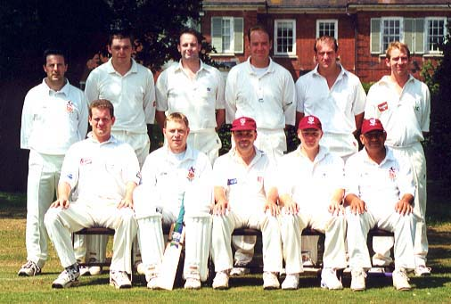 Back Row: Gary Jones, Chris Boon, Ian Moore, Nigel Porter, Graeme Walker, Ben Cocklin; Front Row: Nick Haste, Gavin Todd, Micky Davis (captain), Steve Taylor, Ash Patel