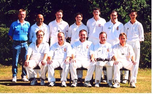 Back Row: K. Lennon (scorer), A. Patel, M. Hornsby, J. Fryd, D. Murphy, P. Webb, J. Apicella; Front Row: B. Davis, D. Bates, K. Lingwood (captain), B. Brooks, D. Goddard