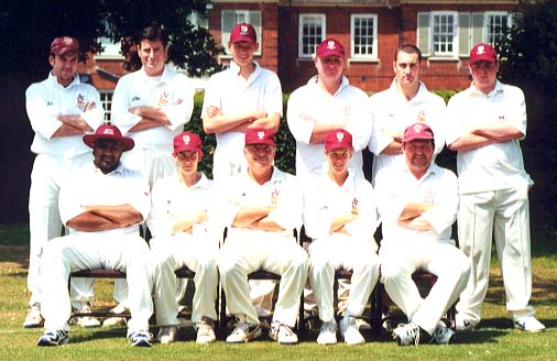 Back Row: Neil Webb, Robin Coote, Robert Brett, Jim Lingwood, Paul Webb, Steve Lennon; Front Row: Shane Surujbally, James Reilly, Alan Houston (captain), David Smith, Andy Fryd