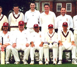 Back Row: Tony Jones, Chris Boon, Nathan Hoskins, Tom Davey, Ken Lingwood, Darren Clements; Front Row: Stuart Fomes, Stuart Townson, Ash Patel (captain), James Reilly, Ian Belchamber