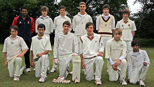 Back Row: Nuwan Shiroman (Manager), Ben Sach, Edward Hornby Jack Jerrom, Matt Thorpe-Apps, Thomas Oakley; Front Row: Douglas Maxwell, Harry Levy, Elliott Skinner, James Welham (Captain) Harry Coombes, Neel Sethi