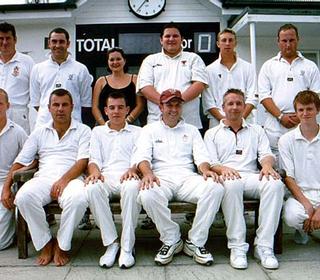Back Row: Rob Coote; Paul Webb; Chantelle Galbraith (scorer); Dwight Johnson; Alex Priddle; Chris Eaton; Front Row: Joe Surtees; Dave Childs; Tom Childs; Neil Webb (Capt.); Damian Muncaster; Ewan McCallum.