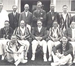 Brentwood 1st XI 1937-38 (Joe Hodgson is on the left standing, and Howard Wilkins is seated centre)