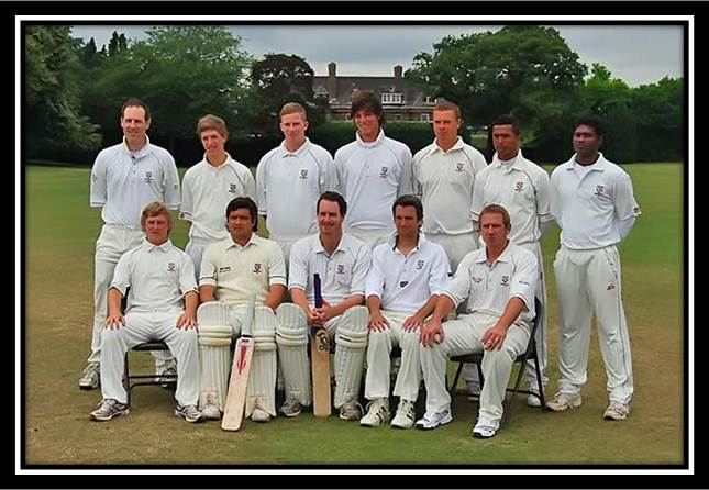 Standing: Richard Walford, Sam Pountney, Harri Jones, Tom Moore Max Osborne, Jahid Ahmed, Kasun Bodhisha. Sitting: Aaron West, James Redwood, Jon Walford (Capt.), Ian Belchamber, Ben Cocklin.  Photograph taken prior to the Wanstead match (July 11th, 2009)