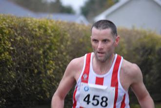 Sean Murphy 1st for Trim at Bohermeen and Meath over 40 half marathon champion