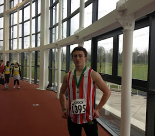 Harry Purcell intermediate boys 400m champion at Santry