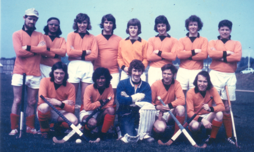 1sts, early 70s?  Back row: R. Horne, P. Mahindru, N. Stewart, A. Knight, R. Liddle, K. McKay?, ?, G. Bennett.  Front row: A. Slesser, C. Mahindru, ?, M. Nicholas, D. Lumsden
