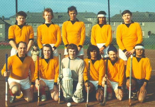 Earliest known photo of a Hillhead XI.  At Garscadden, circa 1973. Back row: Graeme Bennett, Dave Garden, ?, Yogesh Verma, Simpson Donald.  Front row: ?, Derek Lumsden, ?, Chris Mahindru, Red Horne, Parris Mahindru