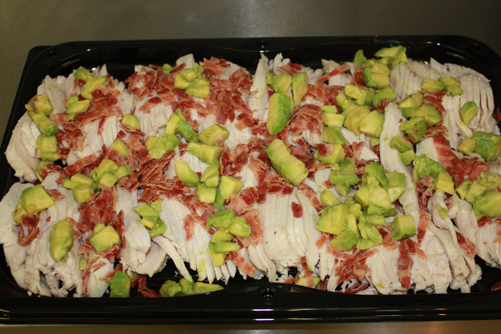 Chicken Breast, Bacon and Avocado Platter (served with Blue Cheese Dressing)