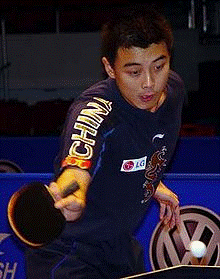Former World Champion in men's table tennis, Wang Hao.