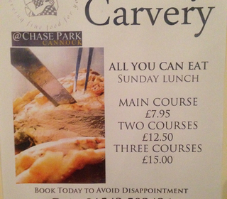 Sunday Carvery at Chase Park