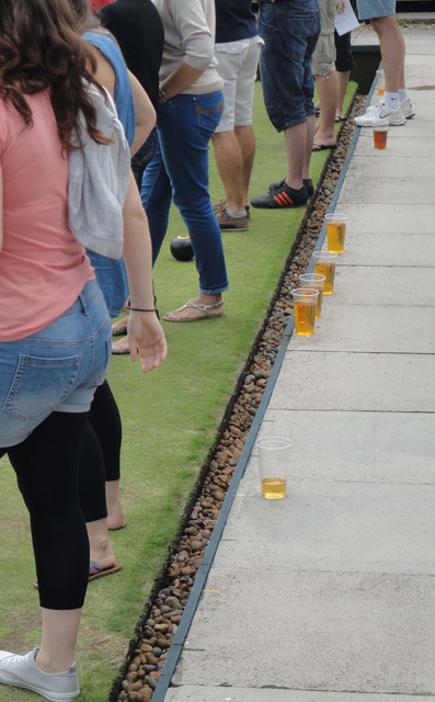 Thirsty work this bowling