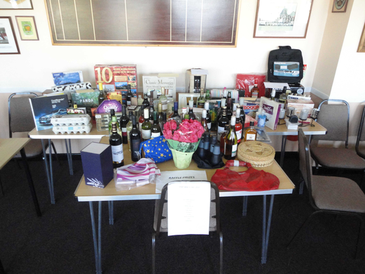 Raffle prizes on show