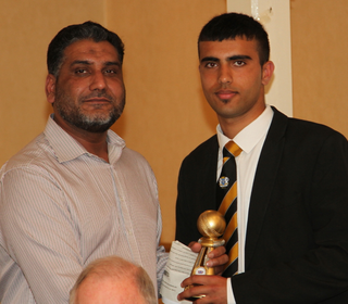 Bowler Farhan Adil won the Saturday 3rd XI player of the year
