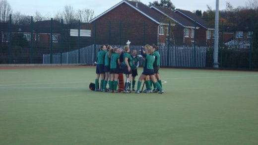 First team huddle