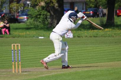 Mike Haworth batting