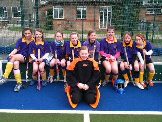 U12 girls - most of them looking after Cambs tournament