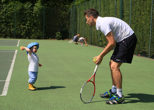 Our new tennis coach Mark