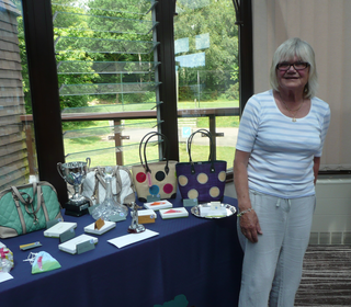 Lady Captain Anne Hitam and Prize Table 2014
