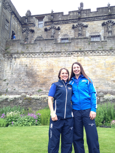 Vikki & Becky at Commonwealth Games squad announcement.