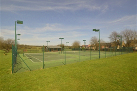 3 outside courts with floodlights