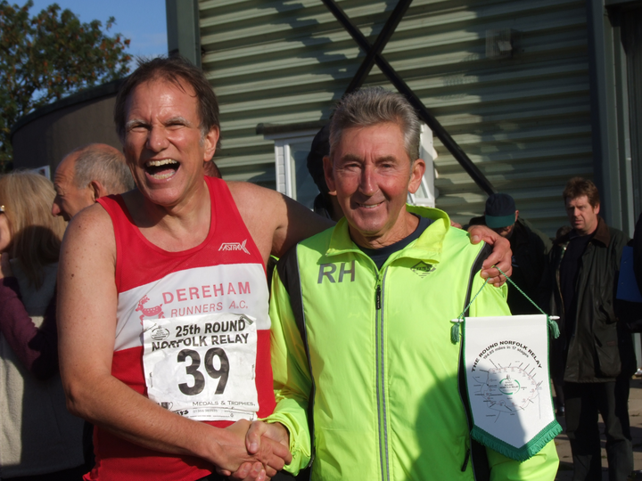 Ron Hill guest of honour at The Round Norfolk Relay 18th, September, 2011.  Which of these runners was an Olympian ?