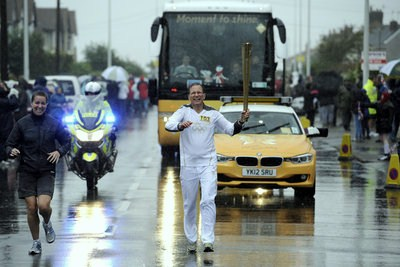 The Olympic Torch Relay Day 34 at Fleetwood, Lancs. 22nd June 2012.
