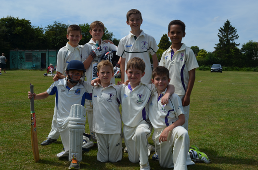 u10s after winning against Harlow, 22 June 2014